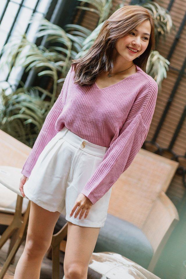 ACW Cozy Soft Knit Sweater in Berry