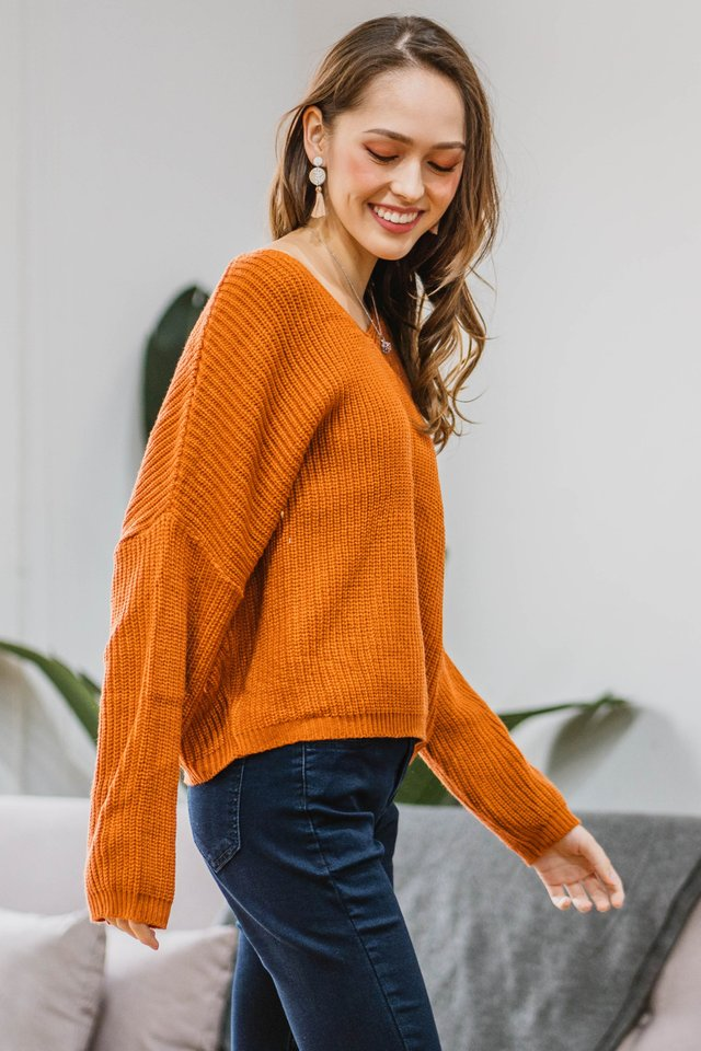 ACW Cozy Soft Knit Sweater in Sky Blue