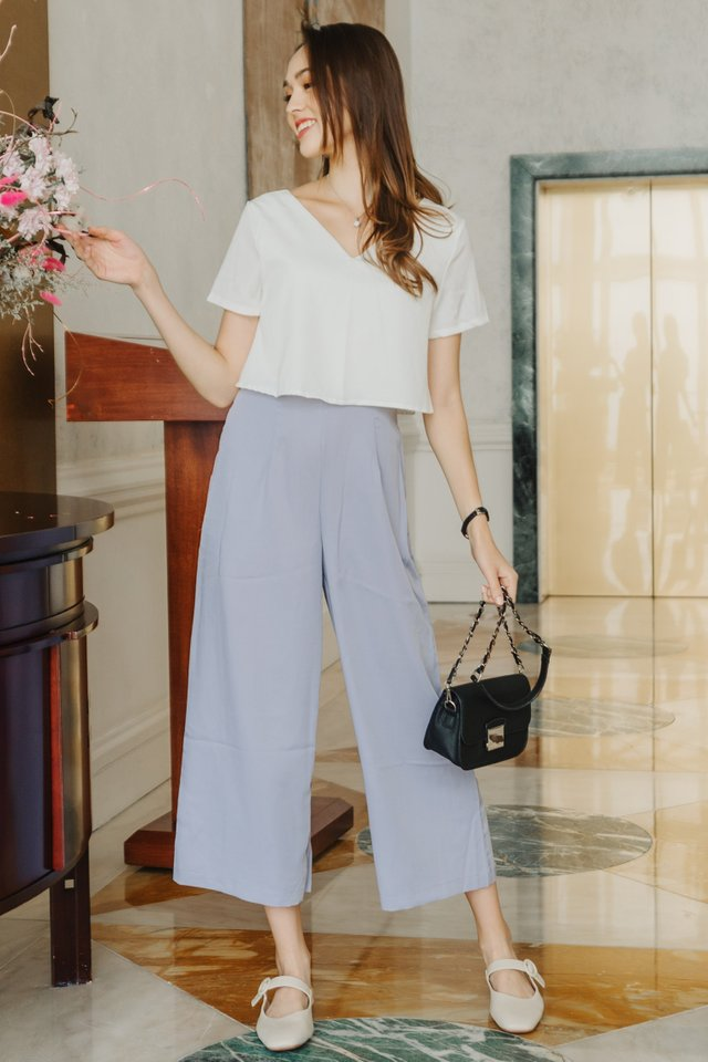 ACW Duo Layer Colourblock Jumpsuit in White-Lilac